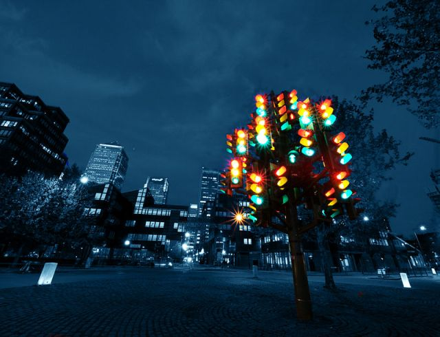 """Traffic Light Tree"" by William Warby from London, England - Traffic Light TreeUploaded by Petronas. Licensed under CC BY 2.0 via Wikimedia Commons - http://commons.wikimedia.org/wiki/File:Traffic_Light_Tree.jpg#mediaviewer/File:Traffic_Light_Tree.jpg"