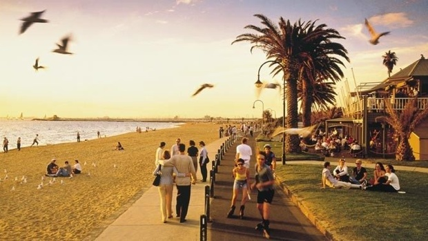 beach during summer in melbourne